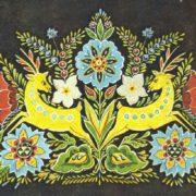 MK Mukha Panels Deer and flowers. Chernigov Oblast, Ukrainian SSR