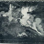 P. Chalunin. The battle of Peresvet with Cholubei. 1945