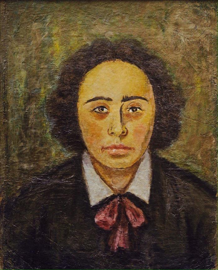 1922. Portrait of a woman. Samara art museum