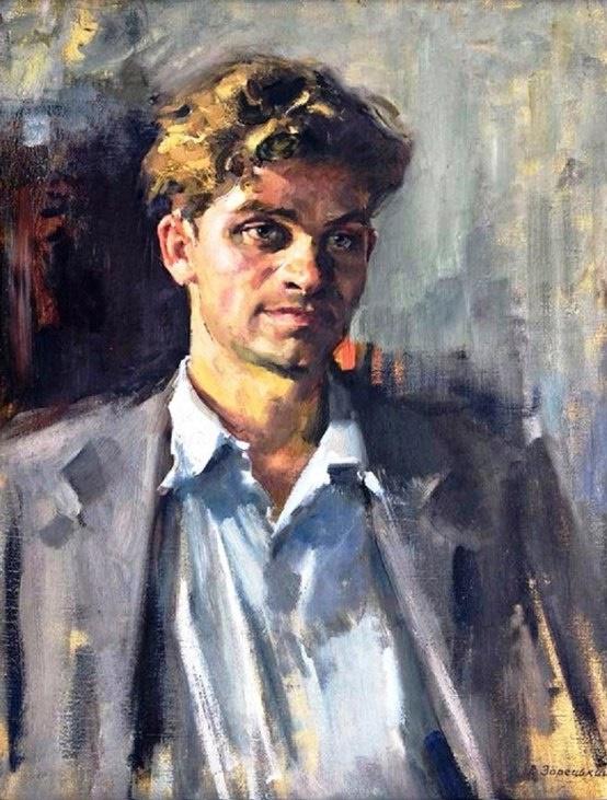 Artist Zaretsky, self-portrait. 1950s