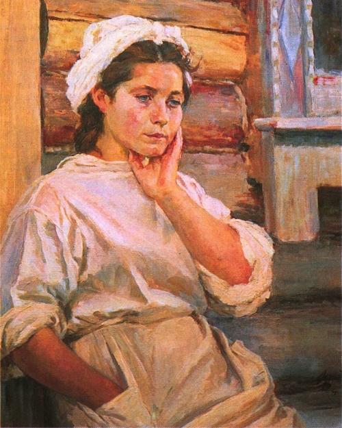 Nurse in a spare minute. Oil. 1945. The State Tretyakov Gallery