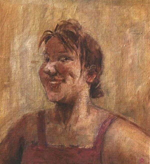 Laughing woman's portrait. 1967