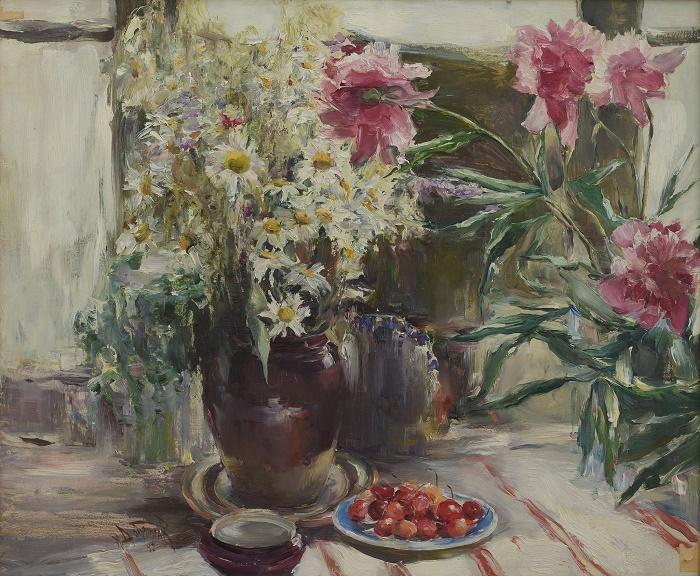 Lupines and berries. Belgorod art museum