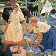 Milkmaids. Portrait of a Milkmaid N.