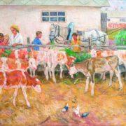 Pioneers on the farm. 1971