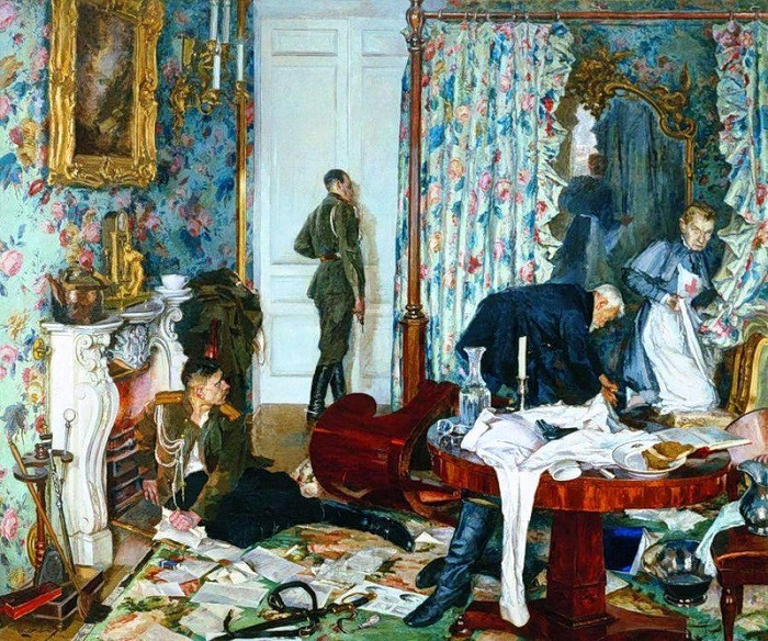 'Escape of Kerensky from Gatchina'. 1937-1938. The State Tretyakov gallery