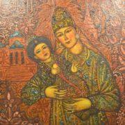 Suyumbike with her son Utyamysh-Girey. 1989-1990. State Museum of Fine Arts of the Republic of Tatarstan
