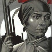 The liberated woman, build socialism. AI Strakhov-Braslavsky. 1926
