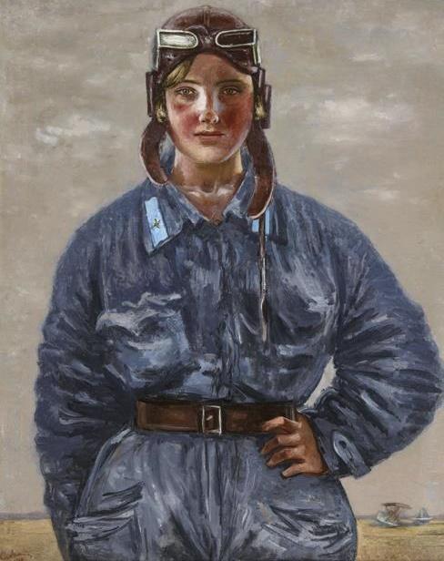 The pilot. Portrait of Katya Melnikova. 1934