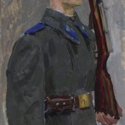 The soldier of the post number 1. 1960