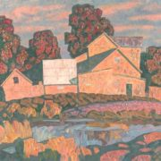 A house at the river. 1992. Oil, canvas