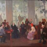 Soviet Russian artist Mikhail Davidovich Natarevich