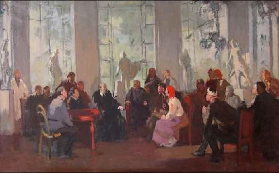 Soviet Russian artist Mikhail Davidovich Natarevich (September 29, 1907 – February 23, 1979)