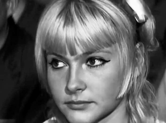 Accused of murder. Young actress Nina Maslova. 1969