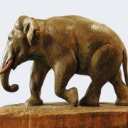 An elephant sculpture