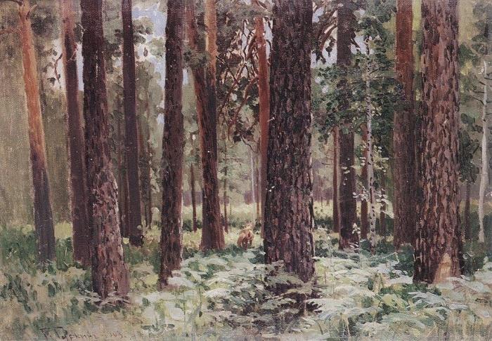 Anosinsk woods. 1903. Oil on canvas