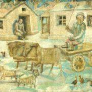 Bulls. A scene from rural life