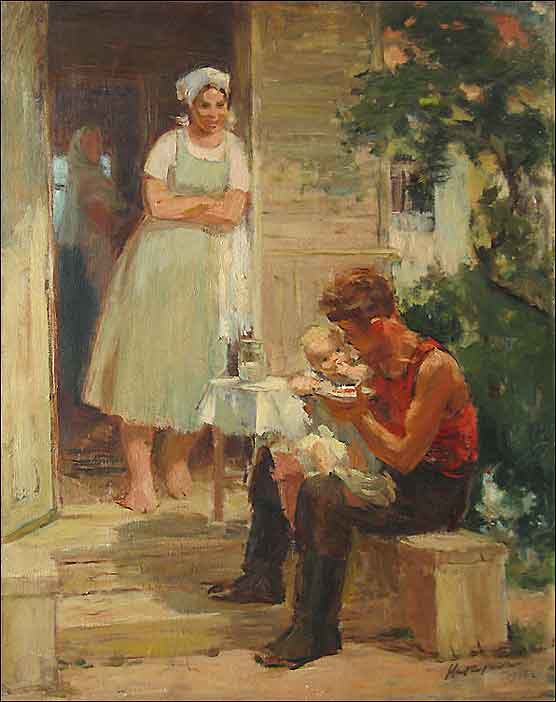 Citizen. 1946. Oil, canvas
