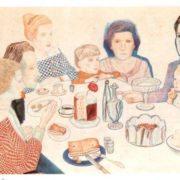 Family portrait (Easter). 1924. Paper, watercolor, pencil