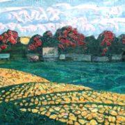 Khutor (village). 1990. Oil, canvas