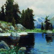 Lake in Lazha