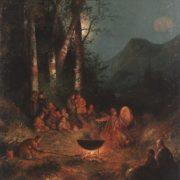 Night of the victim Kamlanie. 1895. Oil o