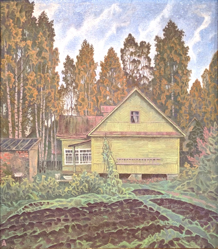Old house. 1990. Oil, canvas