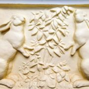 Rabbits, Bas-relief sculpture