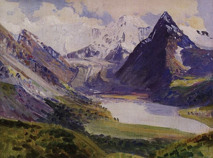 The Belukha. 1926. Oil, canvas
