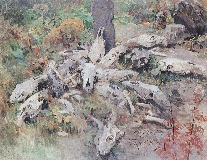 The altar. 1909. Oil, canvas
