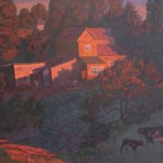 The house of the Dryakhlovs. 1986. Oil on canvas