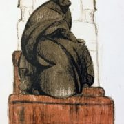 The project of the monument to Andrei Rublev. 1918