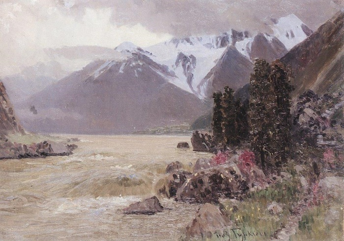 The view of the Katyn in spring. 1903. Oil on canvas