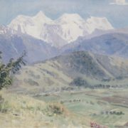 The view on the Belukha. 1926. Oil on canvas