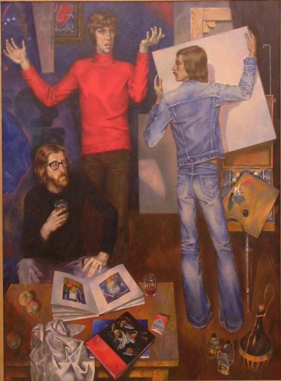 Painting by Soviet Russian artist Anatoly Fedorovich Alekseyev (born 3 November, 1951)