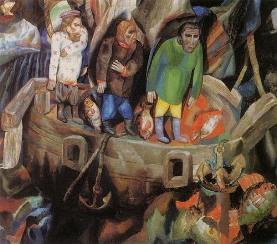 Painting by Soviet Russian avant-garde artist Pavel Filonov