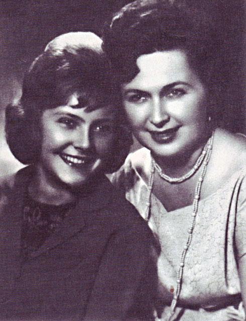 With her mother, left- Nina Maslova
