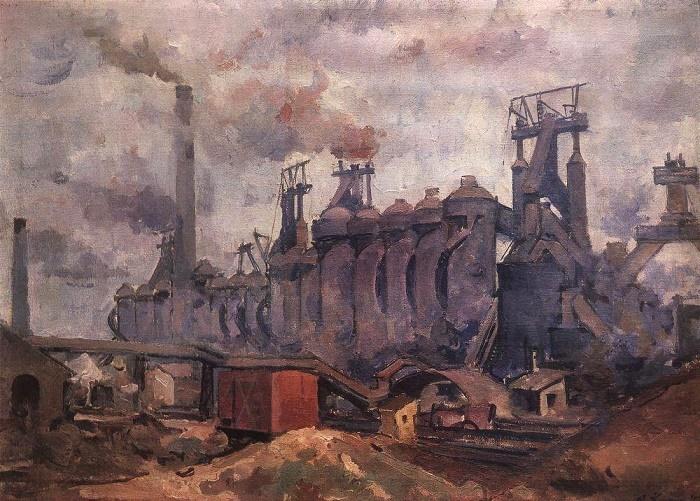 Dnepropetrovsk plant of GI Petrovsky. Blast furnace shop. 1930