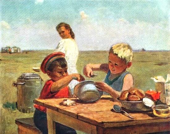 I.I. Vitman. Friends. Omsk region. Etude