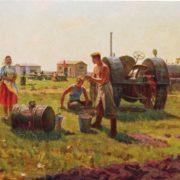 I.M. Novoseltsev. Noon in the field camp