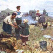 P.A. Smolin. The first days on the virgin land. Kazakhstan. Etude