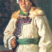 P.I. Rozin. Portrait of the shepherd Maria Chitpanova. Altai