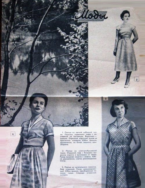 1954 Fashion magazine photo