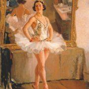 Atist A.M. Gerasimov. Portrait of O.V. Lepeshinskaya