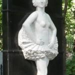 Vedenskoye cemetery, Moscow, grave monument to Lepeshinskaya