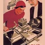 Soviet Leninist propaganda poster art