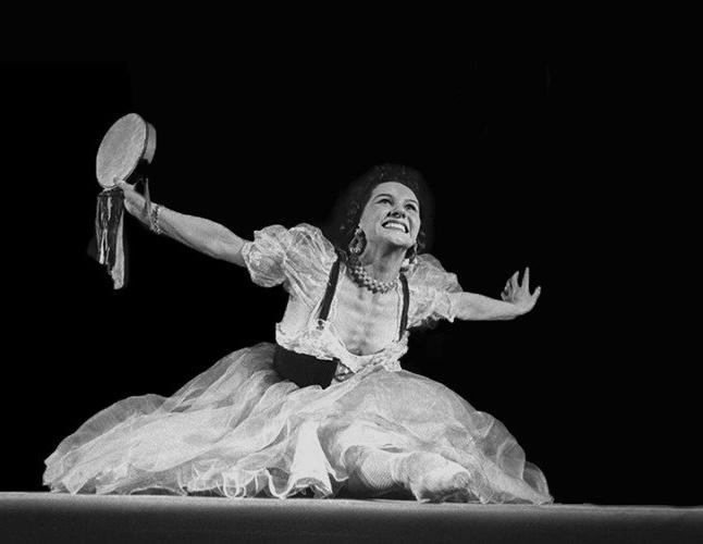 Scene from Vasilenko's ballet Mirandolina based on the Goldoni comedy The Hotel Mistress, 1940s