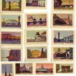 Chemistry inspired USSR matchbox labels