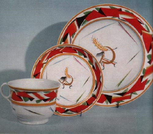 Soviet propaganda porcelain