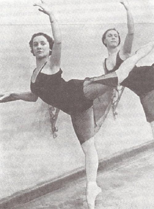 At the rehearsals, Soviet ballerina Olga Lepeshinskaya